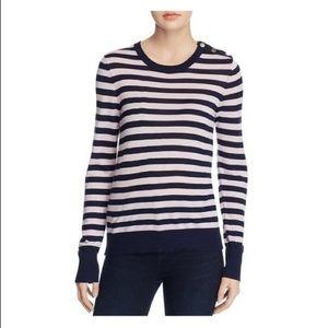 Equipment Femme Pink Striped Sweater